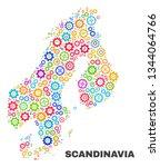 mosaic technical scandinavia... | Shutterstock .eps vector #1344064766