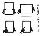 tablet computer   mobile phone. ...   Shutterstock .eps vector #134406536