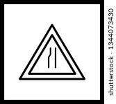 illustration  road narrows on...   Shutterstock . vector #1344073430