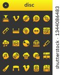 disc icon set. 26 filled disc... | Shutterstock .eps vector #1344086483