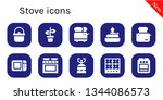 stove icon set. 10 filled stove ... | Shutterstock .eps vector #1344086573