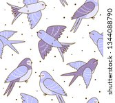 seamless pattern with cute... | Shutterstock .eps vector #1344088790