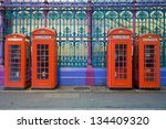 Typical Red Phone Booths In A...