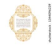 eastern gold vintage square... | Shutterstock .eps vector #1344096239