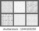 handwriting backgrounds.... | Shutterstock .eps vector #1344103250
