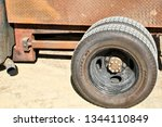 Rear Axle Of A Rusty Custom...