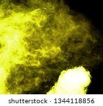yellow smoke blow from... | Shutterstock . vector #1344118856