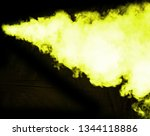 yellow smoke blow from... | Shutterstock . vector #1344118886