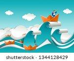 business leader concept vector... | Shutterstock .eps vector #1344128429