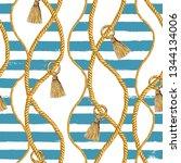 seamless pattern sea nautical...   Shutterstock . vector #1344134006
