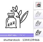 herbal sachet thin line icon.... | Shutterstock .eps vector #1344139466