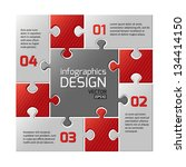 infographics web design. modern ... | Shutterstock .eps vector #134414150