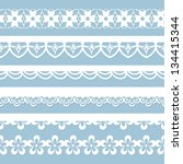 set of seamless laces | Shutterstock .eps vector #134415344