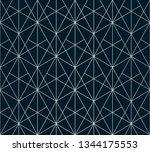 silver lines pattern. vector... | Shutterstock .eps vector #1344175553