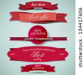 set of superior quality and... | Shutterstock .eps vector #134417606
