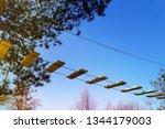 adrenaline park  climbing       ...   Shutterstock . vector #1344179003