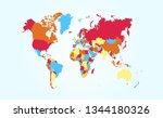 color world map vector   Shutterstock .eps vector #1344180326