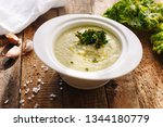 vegetable cream soup | Shutterstock . vector #1344180779