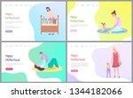 motherhood set  sleeping... | Shutterstock .eps vector #1344182066