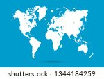 color world map vector | Shutterstock .eps vector #1344184259