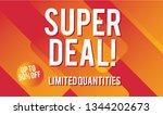 super deal design for business. ...   Shutterstock .eps vector #1344202673