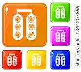traffic light icons set...