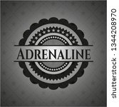 adrenaline dark icon or emblem   Shutterstock .eps vector #1344208970
