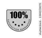100  satisfaction guaranteed... | Shutterstock .eps vector #1344223070