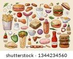 Big Vector Fast Food Elements...