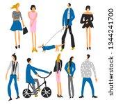 hand drawn vector set people ...   Shutterstock .eps vector #1344241700