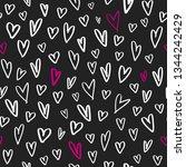 marker hand drawn hearts in... | Shutterstock .eps vector #1344242429