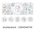 line banner of marketing.... | Shutterstock . vector #1344246743
