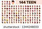 teenager avatar set vector.... | Shutterstock .eps vector #1344248033