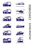 public transportation icon set  ... | Shutterstock .eps vector #134424806
