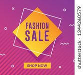 fashion sale banner with modern ...   Shutterstock .eps vector #1344260579