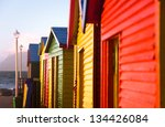 colorful bathing boxes on st... | Shutterstock . vector #134426084
