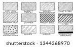 mechanical drawing cross... | Shutterstock .eps vector #1344268970