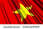 abstract flag of vietnam. 3d... | Shutterstock . vector #1344269909