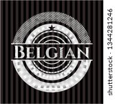 belgian silvery shiny emblem | Shutterstock .eps vector #1344281246