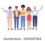happy people group portrait.... | Shutterstock .eps vector #1344287063