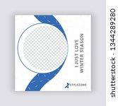 editable modern social media... | Shutterstock .eps vector #1344289280