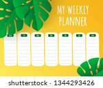 tropical yellow weekly planner...