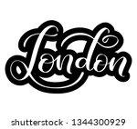 handlettering of english city... | Shutterstock .eps vector #1344300929