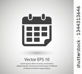 calendar vector icon. web... | Shutterstock .eps vector #1344313646