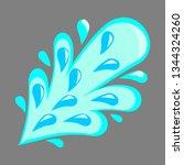 water splash vector  songkran... | Shutterstock .eps vector #1344324260