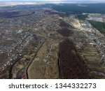 aerial view of the saburb... | Shutterstock . vector #1344332273