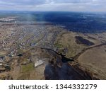 aerial view of the saburb... | Shutterstock . vector #1344332279