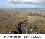 aerial view of the saburb... | Shutterstock . vector #1344332300