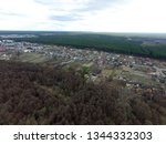 aerial view of the saburb... | Shutterstock . vector #1344332303