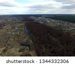 aerial view of the saburb... | Shutterstock . vector #1344332306